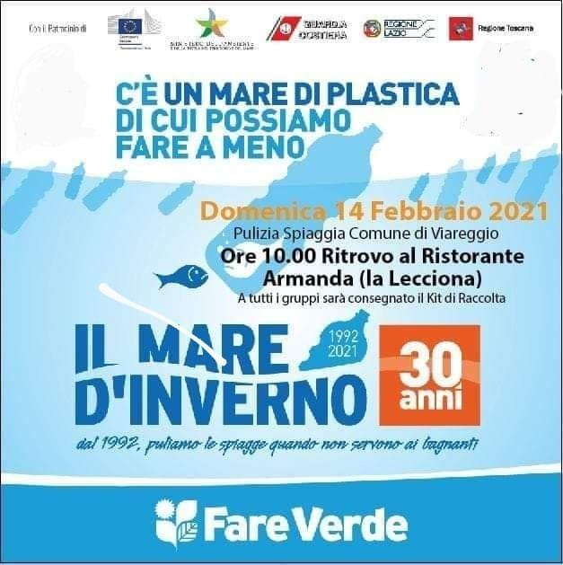 """14/02/2021 Torna """"Il mare d'inverno"""" per ripulire la spiaggia dalle ondate di plastica"""